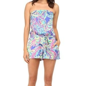 LILLY PULITZER Ritz Romper TOUCAN PLAY Small NWT